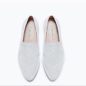 🌻NWT Plimsoll sneakers -white sparkle
